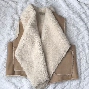NWOT C&C faux Sherpa vest - medium
